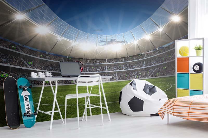 Fototapeta z boiskiem piłkarskim