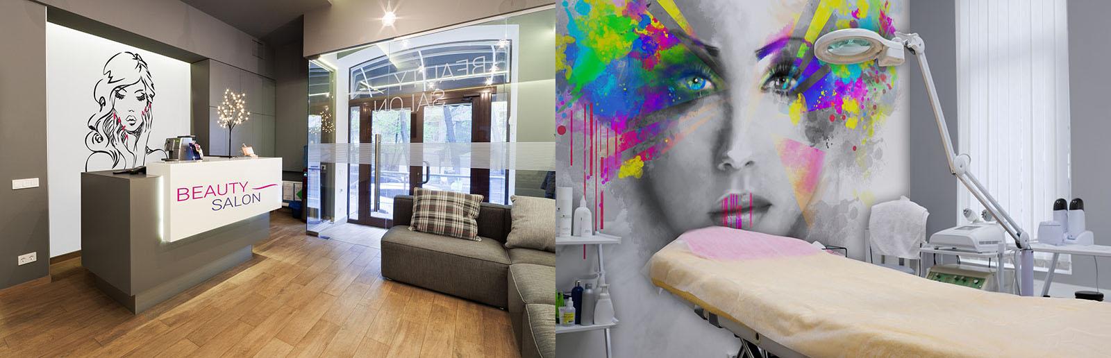 Salon kosmetyczny - fototapeta z kobiecym motywem