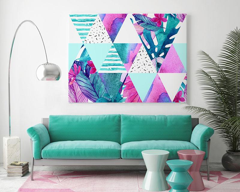 Obraz na płótnie do salonu - geometryczne i egzotyczne wzory
