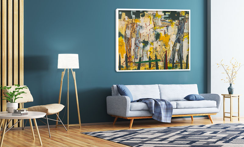 Obraz z abstrakcją do nowoczesnego salonu