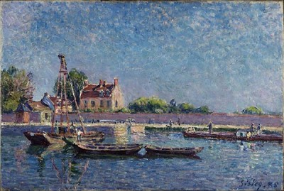 FototapetaAlfred Sisley - The Lock of Saint-Mammès