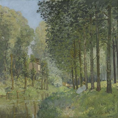 FototapetaAlfred Sisley - Rest along the Stream