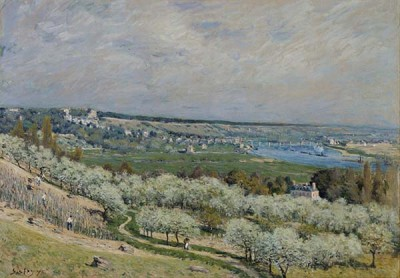 Fototapeta Reprodukcje na ścianę Alfred Sisley - The Terrace at Saint Germain, Spring