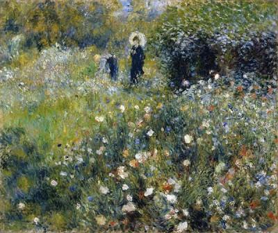 FototapetaAuguste Renoir - women with a parasol in a garden
