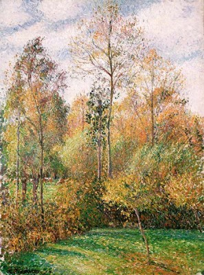FototapetaCamille Pissarro - Automne Peupliers Eragny Autumn Poplars Eragny