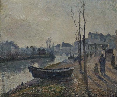 FototapetaCamille Pissarro - Quai du Pothuis bord de l Oise