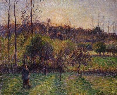 FototapetaCamille Pissarro - Soleil levant à Eragn