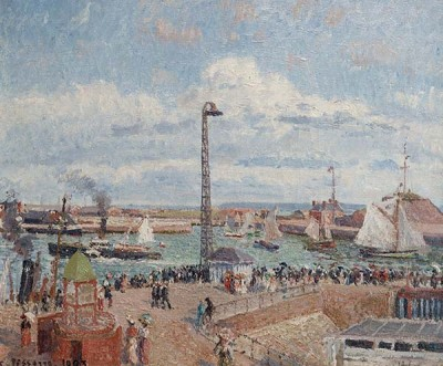 FototapetaCamille Pissarro - The Pilots Jetty at Le Havre