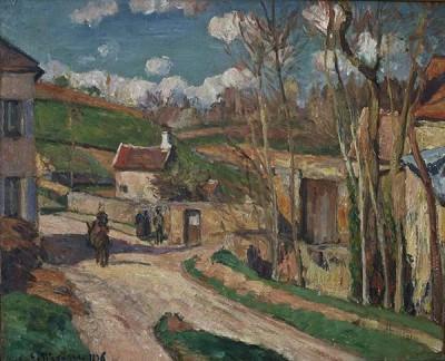 FototapetaCamille Pissarro - Un carrefour à l Hermitage
