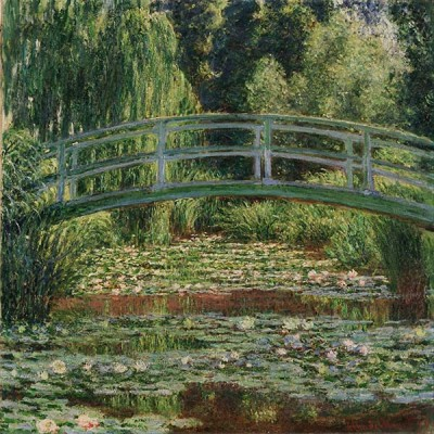 Fototapeta Reprodukcje na ścianę Claude Monet -The Japanese Footbridge and the Water Lily Pool, Giverny