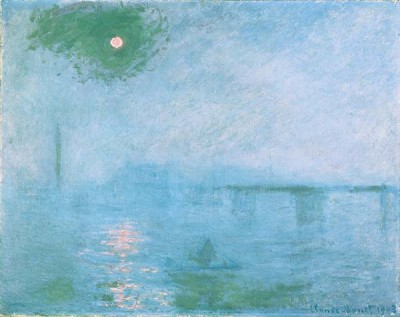 Fototapeta Reprodukcje na ścianę Claude Monet - Charing cross bridge fog on the thames