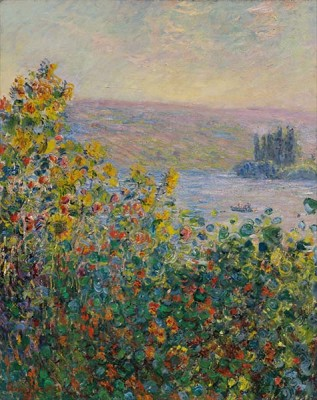 Fototapeta Reprodukcje na ścianę Claude Monet - Flower Beds at Vétheuil
