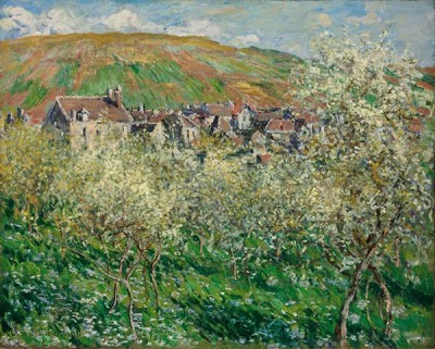 FototapetaClaude Monet - Flowering Plum Trees