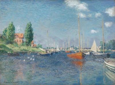 Fototapeta Claude Monet - Red Boats, Argenteuil