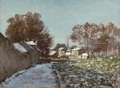 FototapetaClaude Monet - Snow at Argenteuil