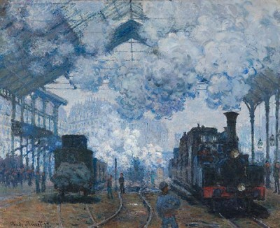 Fototapeta Reprodukcje na ścianę Claude Monet - The Gare Saint-Lazare Arrival of a Train