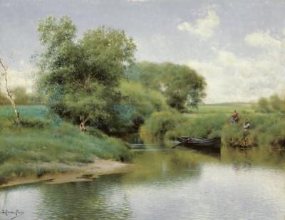 Fototapeta Emilio Sánchez Perrier - Boating on the River
