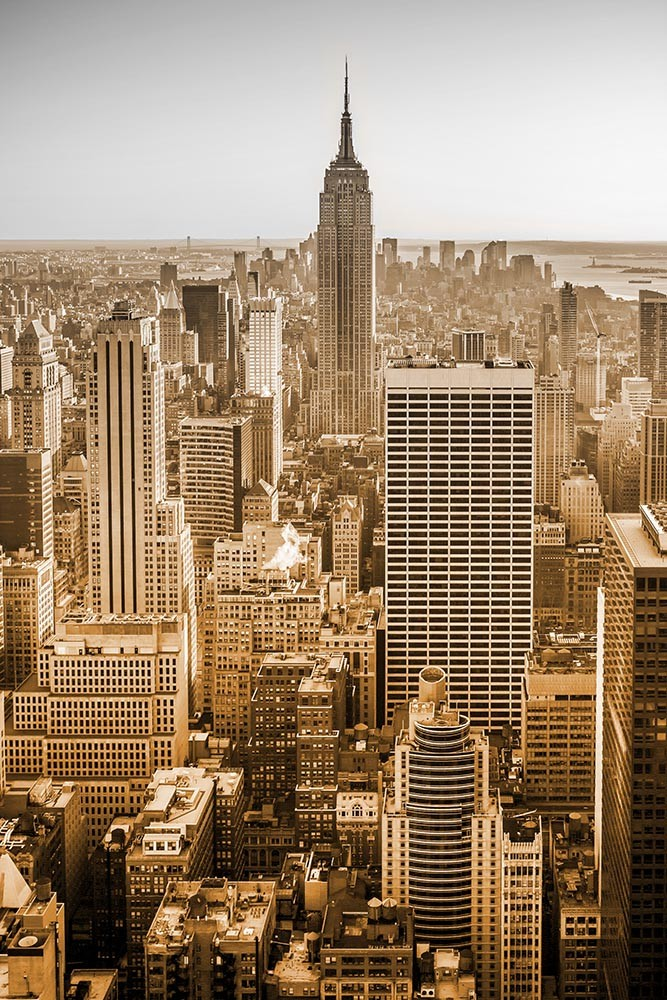 Fototapeta Czarno białe z kolorem Fotografia monochromatyczna - Nowy York