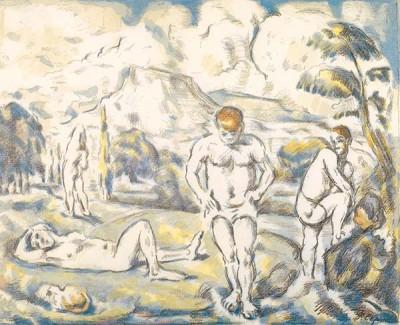 Fototapeta Paul Cezanne - The bathers