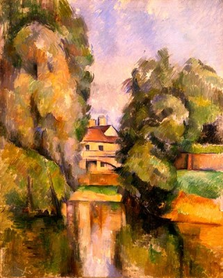 Fototapeta Reprodukcje na ścianę Paul Cezanne - Country House by a River