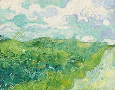 Fototapeta Reprodukcje na ścianę Vincent van Gogh - Green Wheat Fields Auvers