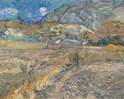 FototapetaVincent van Gogh - Landscape at Saint-Rémy