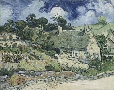 Fototapeta Vincent van Gogh – Thatched Cottages at Cordeville