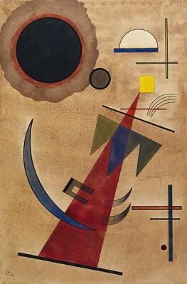 Fototapeta Wassily Kandinsky - Rot in Spitzform
