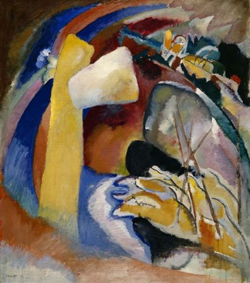 Fototapeta Wassily Kandinsky - Study for Painting with White Form