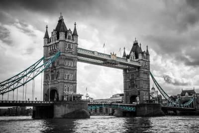 FototapetaFotografia czarno-biała Tower Bridge w Londynie