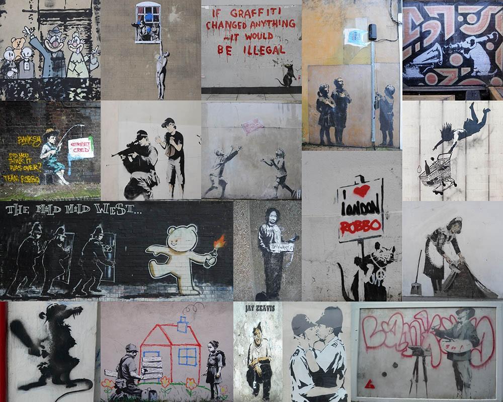 FototapetaKolaż Mural Banksy