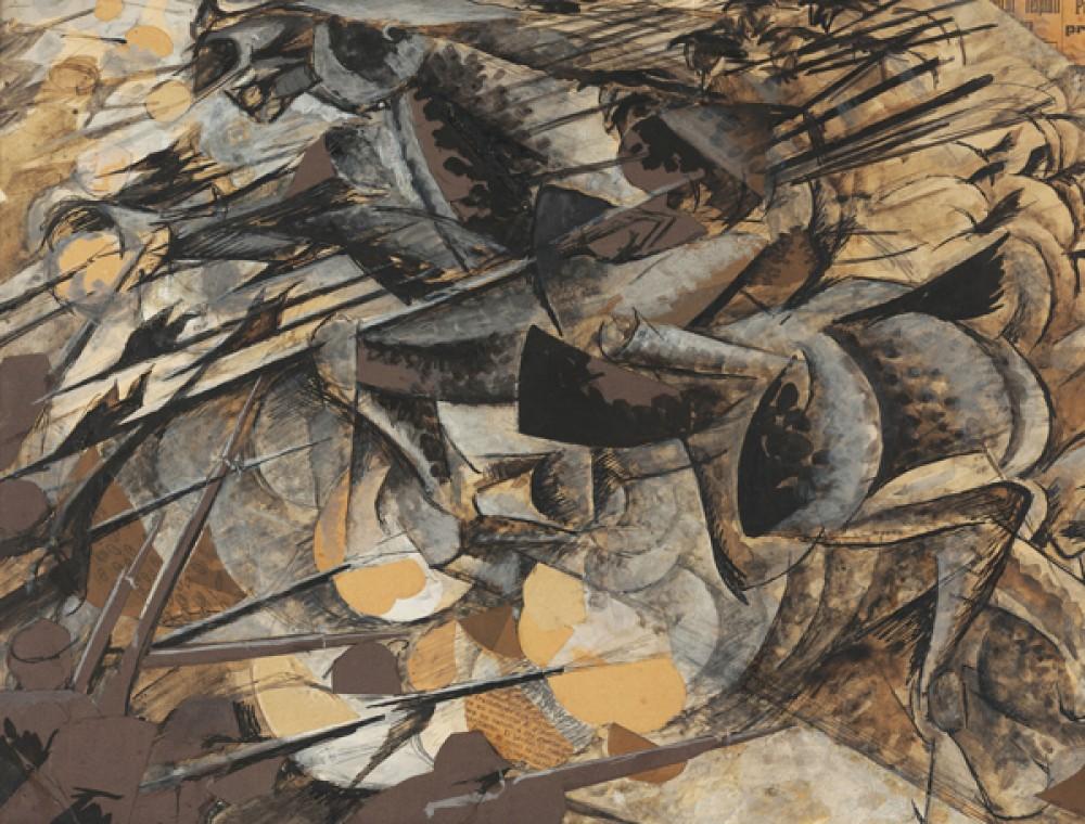 Fototapeta Reprodukcje na ścianę Umberto Boccioni - Carica di lancieri