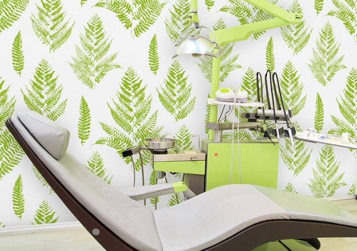 Fototapeta z liśćmi paproci do gabinetu stomatologicznego