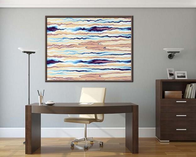Obraz na płótnie zpastelową abstrakcją do biura