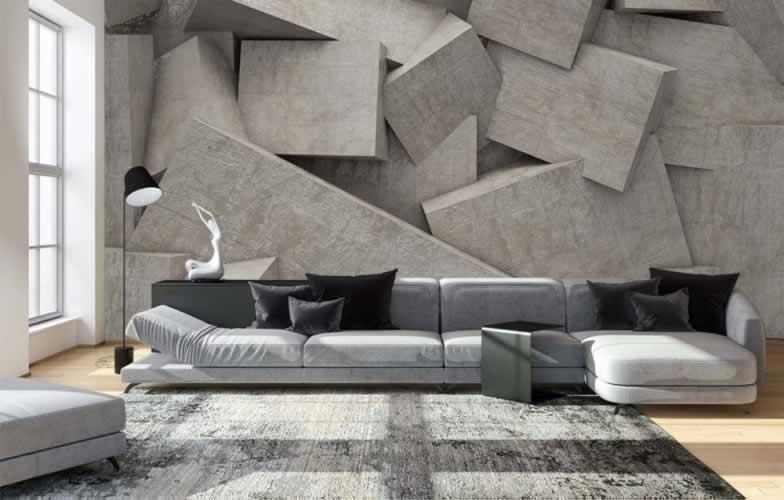 Fototapeta 3D z motywem bloków betonowych