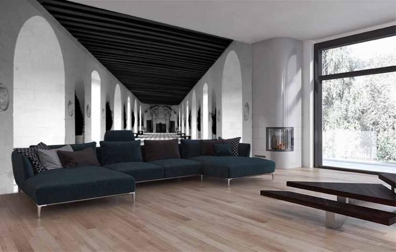 Fototapeta 3d z motywem korytarza