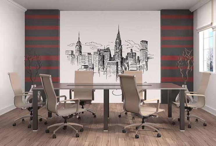Fototapeta do biura z motywem architektonicznym - ilustracja miasta Nowy York