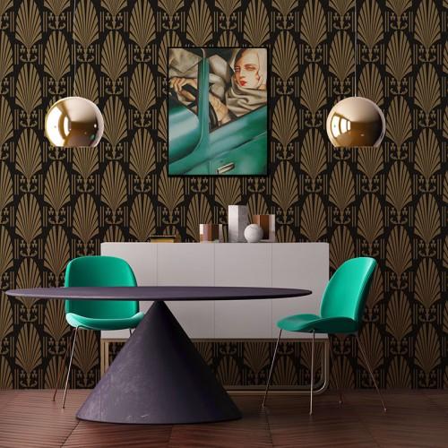 Fototapeta z ornamentem w stylu Art Deco