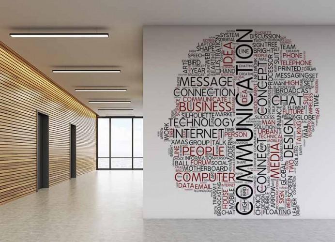 Fototapeta z grafiką typograficzną do biura