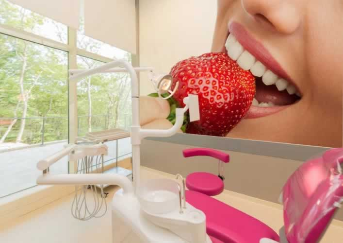 Fototapeta do dentysty z motywem pięknych, zdrowych zębów