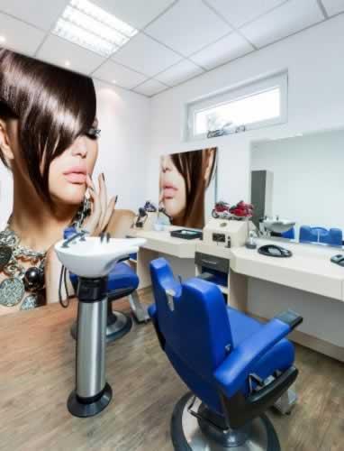 Fototapeta do fryzjera: Piękna kobieta z stylowej fryzurze