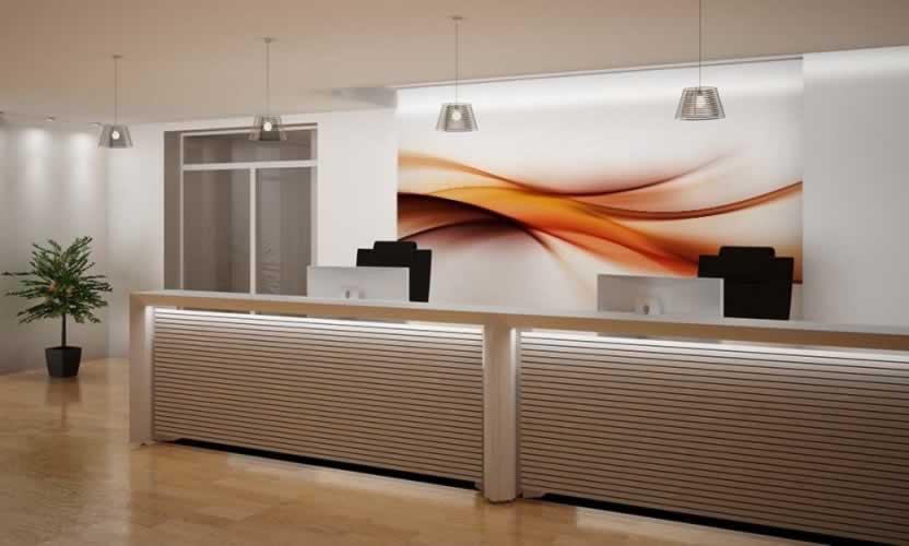 Fototapeta do hotelu z abstrakcją w formie falistej