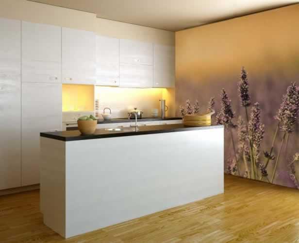 Fototapeta do kuchni z lawendową łąką