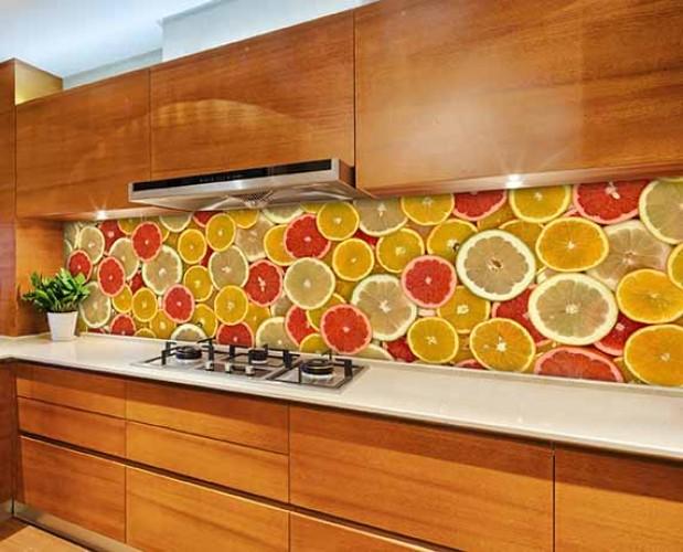 Fototapeta do kuchni z owocami cytrusowymi