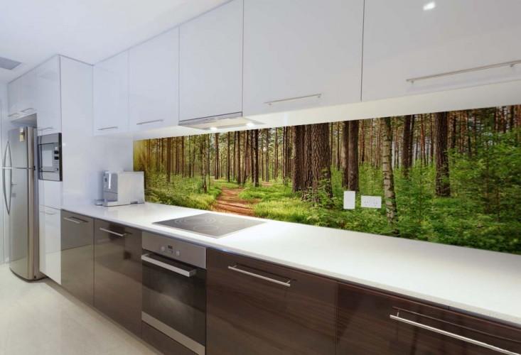 Fototapeta do kuchni z panoramą - Krajobraz leśny