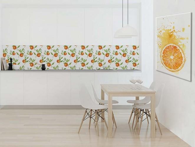 Fototapeta do kuchni - Wzór z pomarańczami