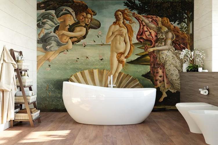 Fototapeta do łazienki z reprodukcją Narodziny Wenus