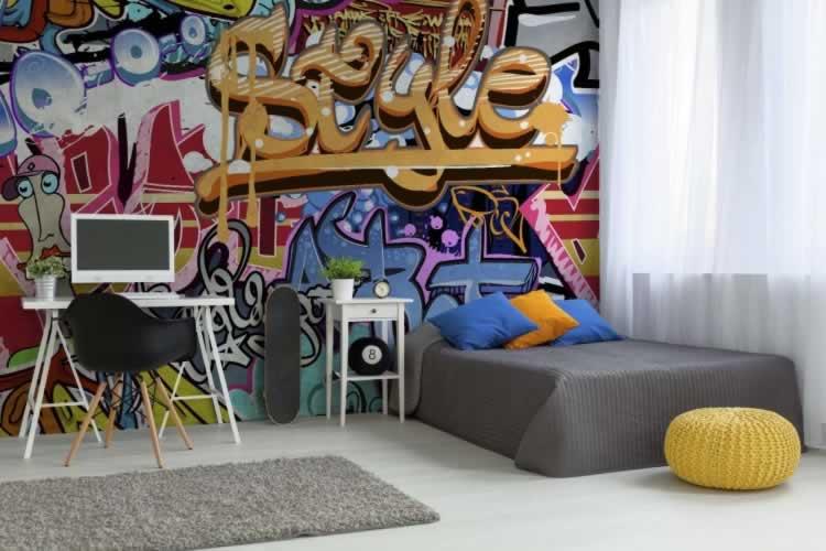 Fototapeta do pokoju chłopca z motywem graffiti