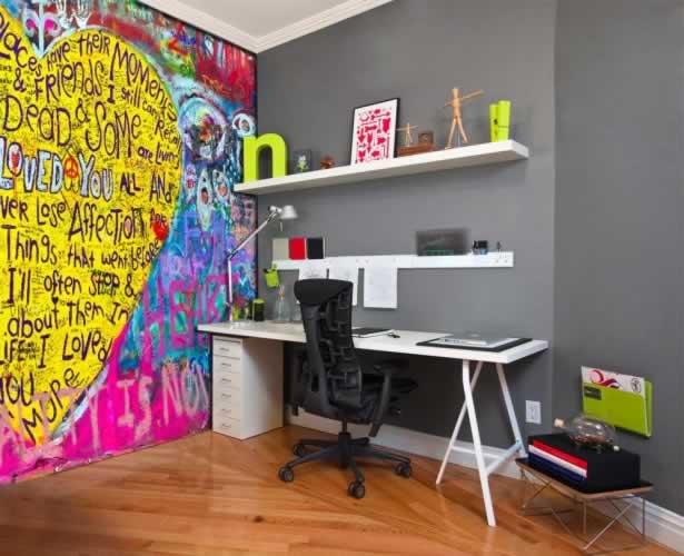 Fototapeta do pokoju młodzieżowego z motywem graffiti