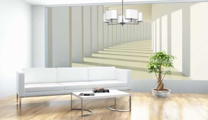 Fototapeta do salonu powiększająca przestrzeń z kolumnadą